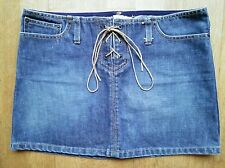 Ladies SKIRT Denim Mini ABERCROMBIE & FITCH 100% Cotton Size 2 VGC