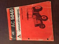 ALLIS CHALMERS ALLIS-CHALMERS 5040 OPERATOR OPERATOR'S TRACTOR MANUAL
