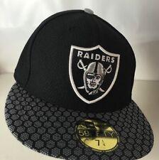 Oakland Raiders Hat Cap 59FIFTY OnField Sideline NFL Spellout Helmet Logo 7 1/4