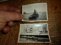 Ancien Bateau Remorqueur Sidi Moussa et Liberty Ship a Casablanca Maroc 1954