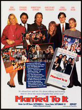 MARRIED TO IT__Orig. 1993 Trade AD movie promo__RON SILVER_Mary Stuart Masterson