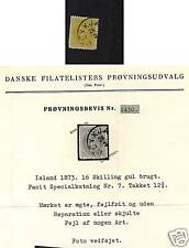 Iceland  7  used with certificate     catalog $700.00