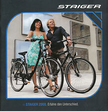 Staiger Prospekt Fahrrad 2008 brochure bicycles prospectus vélo broszura bike
