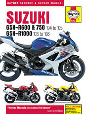 HAYNES 4382 MOTORCYCLE REPAIR OWNER MANUAL SUZUKI GSX-R600 GSX-R750 2004 - 2005