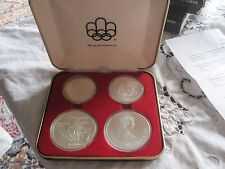 4 Coin 1974 Montreal 1976 Olympics Series II Silver Set Royal Canadian Mint RCM
