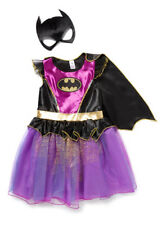 HALLOWEEN BATMAN GIRLS PURPLE  DRESS UP BAT GIRL WITH MASK AND CAPE  AGE 3 TO 4