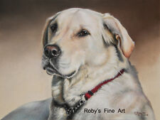 """Labrador Dog 8""""x10"""" Print """"Forever Faithful"""" Giclee by Realism Artist Roby Baer"""