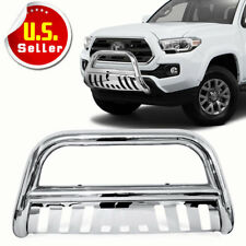 Stainless Bull Bar Brush Push Front Bumper Grille Guard For 05 15 Toyota Tacoma