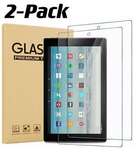 """2 Pack Tempered Glass Screen Protector for Amazon Fire HD 10 Tablet (10.1"""") 2019"""