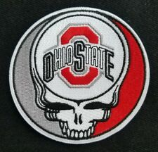 Steal Your Face Grateful Dead Head Skull OHIO STATE Biker Patch Iron On