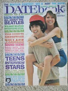 Datebook Magazine August 1966 The Beatles George Harrison Patti Boyd STONES Cher