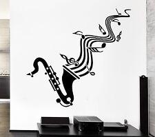 Wall Sticker Vinyl Decal Saxophone Sheet Music Jazz Blues Lover (ig1295)