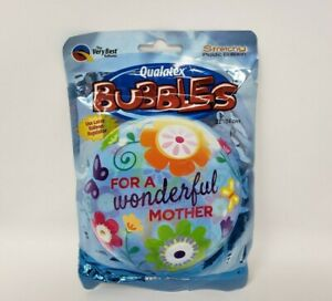 """Qualatex Bubbles Stretchy Plastic Balloon For a Wonderful Mother 22"""""""