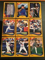 2002 & 2003 Topps DODGERS Complete Team Sets Lot Series 1 and 2 MINT 49 Cards