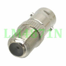 1pce Adapter BNC female to F TV female jack RF connector straight F/F