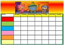 Reusable -TEAM UMIZOOMI- Reward Chart - Wipe clean - With pen