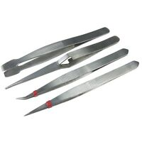 Professional 4pc Tweezer Set Great For Hobby Craft and DIY