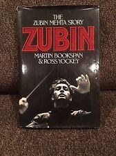 ZUBIN MEHTA SIGNED AUTOGRAPHED BOOK THE ZUBIN MEHTA STORY BROOKSPAN YOCKEY RARE