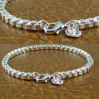 Damenarmband Armband  925 Sterlingsilber plt. 19,5cm Silber Kette Schmuck (S6)