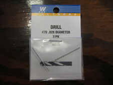 "Walthers Hobby Tools:  Drill Bits (pack of 2) .028""  #70  947-70"