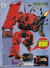 Original 1994 Konami METAL WARRIORS Super Nintendo SNES video game print ad page