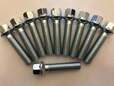 BULLONI ruota in lega x 20 M14X1.5 R14 Argento GALLEGGIANTE COLLARE 45mm thread per PORSCHE