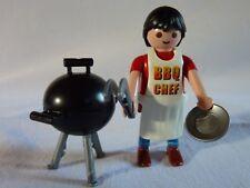 PLAYMOBIL personnage accessoires maison vacances chef BBQ et barbecue