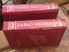 PABLO NERUDA Antologia 2 Vol Set 1995 2nd Edicion SPANISH Free US Shipping POEMS