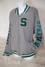 Victoria's Secret PINK Med Collegiate Michigan State Letterman Jacket MSU Sweate