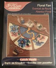 """Jp Coats Floral Fan Latch Hook Rug Kit Oriental #25033 Sealed 18"""" x 32"""" New"""