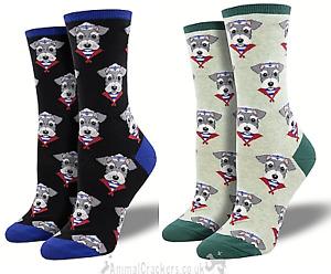 Womens quality Socksmith Snazzy Schnauzer one size socks novelty Dog lover gift
