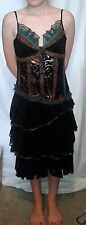 Almost Famous Black Summer Dress Size 8 New Without Tags, one button missing