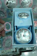 porta ciuccio e catena bamby rosa  neonato sfoglia argento 925  baby pacifier