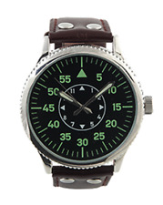 EAGLEMOSS REPLICA MILITARY WATCH - GERMAN LUFTWAFFE WW11 - NEW & BOXED £4.99 !!!