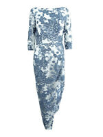 JS Collections Women's Illusion Lace Gown