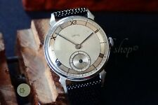 Gents vintage watch pre deluxe Smiths England 15j  5RG 1947 A1345 horned lugs