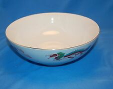 2 Quart Oriental China Soup or Serving Boul w/ Gold Trim