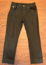 Womens Guess Jeans Crescent Straight Fit Black Size 16 With Logo