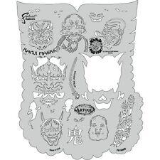 Iwata-Medea Createx Freehand Kanji Master Artool Airbrush Paint Stencil Masks
