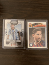 (2) Lionel Messi LOT 1x 2018 Panini Prizm WORLD CUP + 1x 2019 Topps Living Set