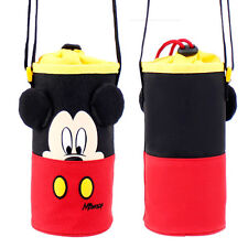 Disney Mickey Mouse Water Bottle Insulated Holder Bag Keep Cool Warm Travel Kid