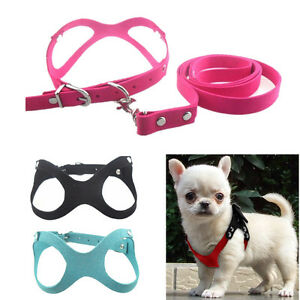 XXS/XS Dog Harness Vest Leash Set Cat Collar Harness for chihuahua teacup yorkie