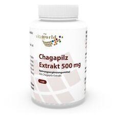Vita World Chaga Extrakt 10:1 500mg 100 Vegi Kaps. betulinus Tschaga Piptoporus