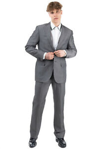 RRP €1090 CORNELIANI Single Breasted Suit Size 50 / L Linen Blend Made in Italy