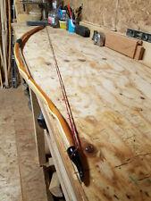 """Yew longbow 68"""" reflex/deflex, 45-50lb@27-28"""" Buffalo Horn Nocks"""