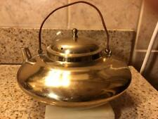 Vintage 1970's Squat Brass Teapot Made In Korea