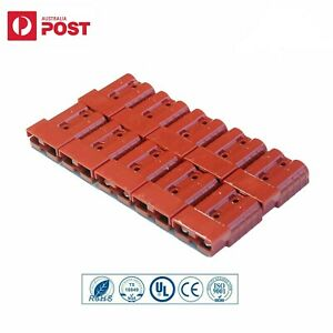 10x Connectors Anderson Style Plug DC Power 50AMP Solar Caravan 6AWG RED