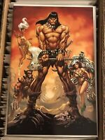 CONAN THE BARBARIAN #1 J SCOTT CAMPBELL VIRGIN VARIANT COVER 2019 savage sword