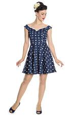 HELL BUNNY Marina ~ Rockabilly Sailor Mini Dress ~ Anchor Pinup Retro Plus Size