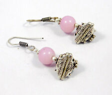 Plated Handmade Earring Jewelry Mjc7743 Rose Quartz Beads .925 Silver